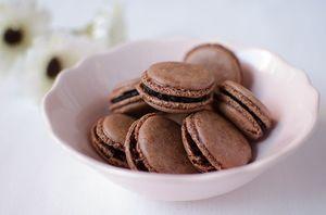 Пирожное Макарони - шоколадные