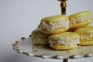 Пирожное Макарони - с кокосом