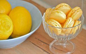 Пирожное Макрони - лимонные