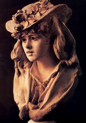 Огюст Роден - Девушка в шляпе с цветами