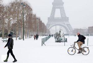 Среднестатистическая погода в Париже в январе